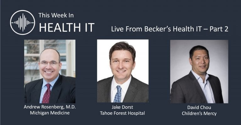Becker's - This Week in Health IT