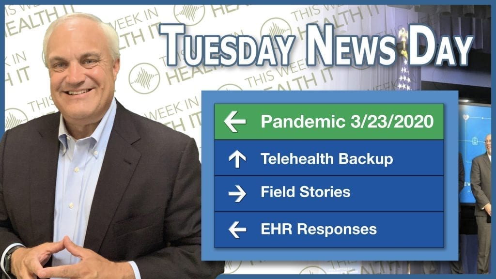 This Week in Health IT Tuesday Newsday March 23 2020