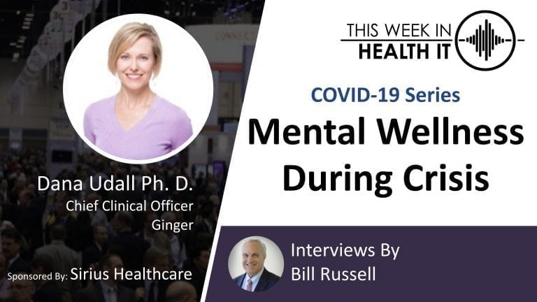 Dana Udall, PhD Ginger This Week in Health IT