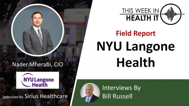 NYU Langone This Week in Health IT