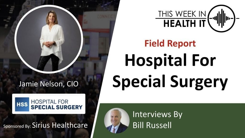 Hospital for Special Surgery COVID-19 This Week in Health IT