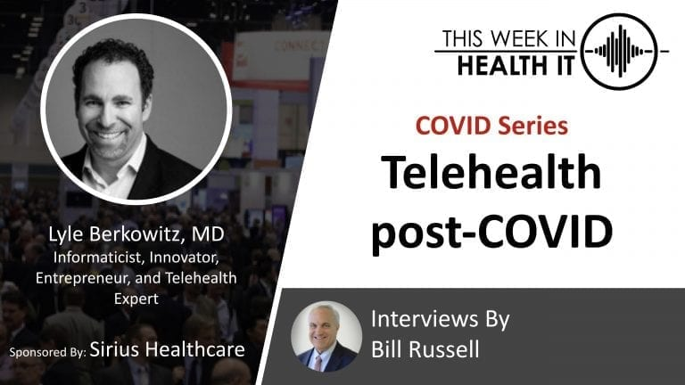 Lyle Berkowitz This Week in Health IT