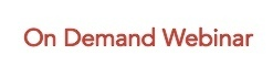 On Demand Webinar